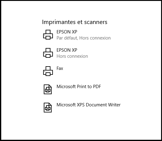 Définir une imprimante par défaut